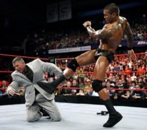 Randy Orton Kicks Vince McMahon