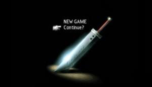 Final Fantasy 7 Start Screen