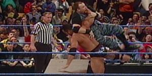 The Rock vs Dudley Boyz Tables Match