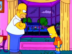 Homer & Bart Itchy & Scratchy The Movie