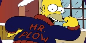 Homer Simpson Mr Plow