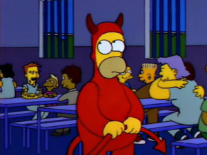 Evil Homer Marge in Chains