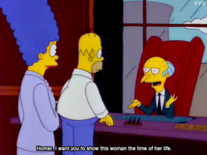 Homer Simpson, Marge Simpson & Mr. Burns