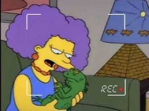 Selma & Jub Jub Simpsons