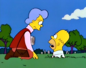 Homer & Mother Simpson - Mother Simpson