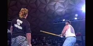 The Sandman vs Balls Mahoney ECW