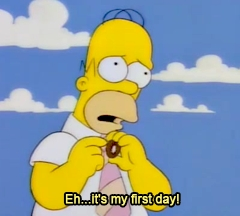 It's my first day - the simpsons
